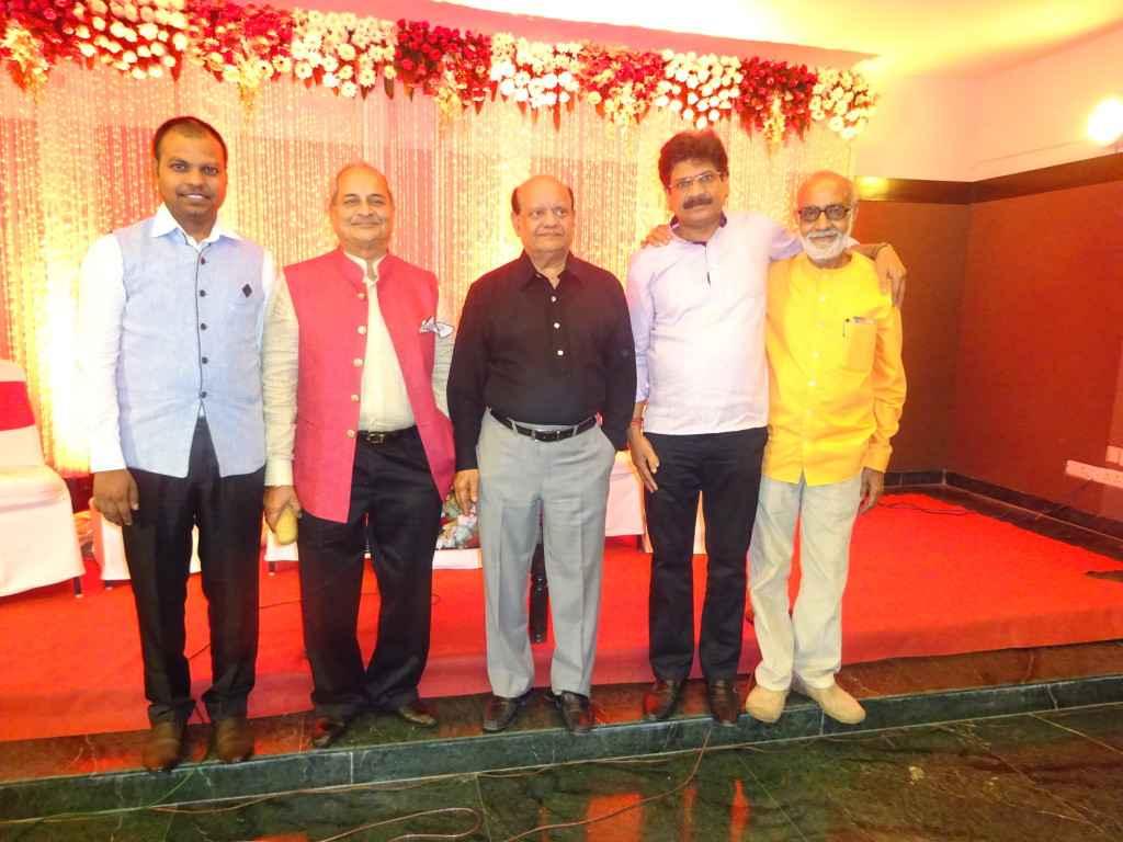 Chirag Jain, Surendra Sharma, Anil Agrawanshi & Yusuf Bharadwaj after a wessing anniversary in Faridabad